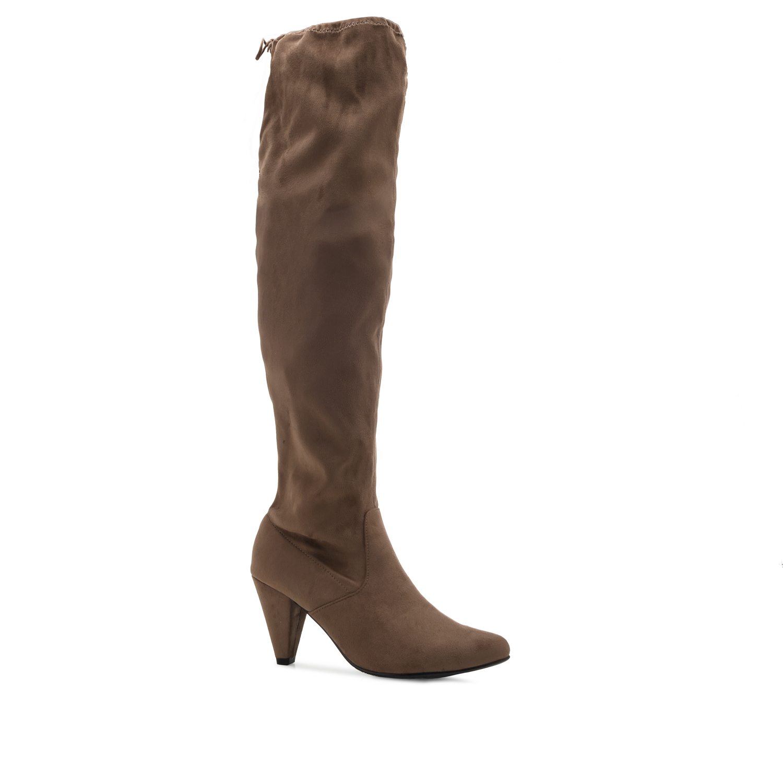 Antilop špicaste čizme preko kolena, svetlo braon