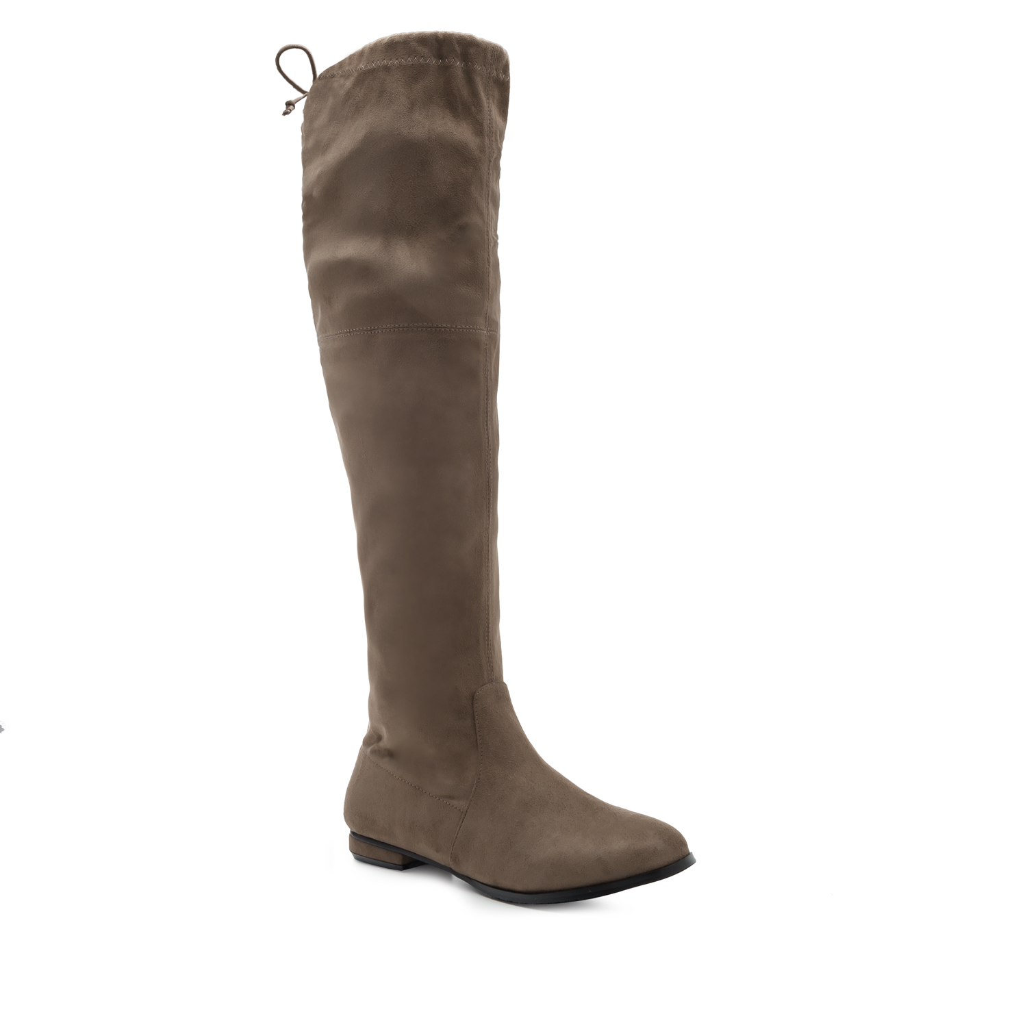 Thigh High Boots in Earth-coloured Suede