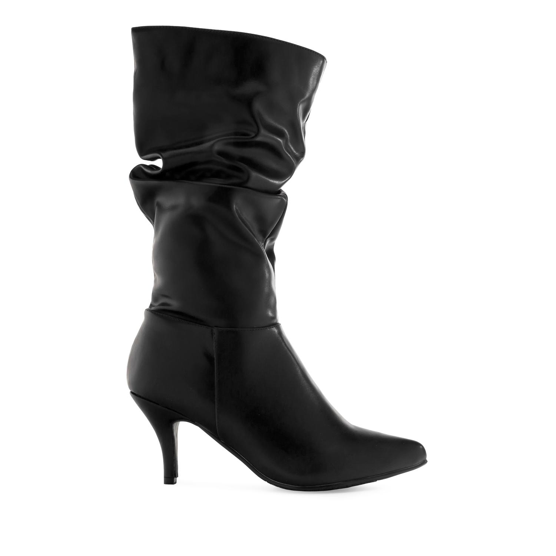 Duboke soft špicaste čizme, crne
