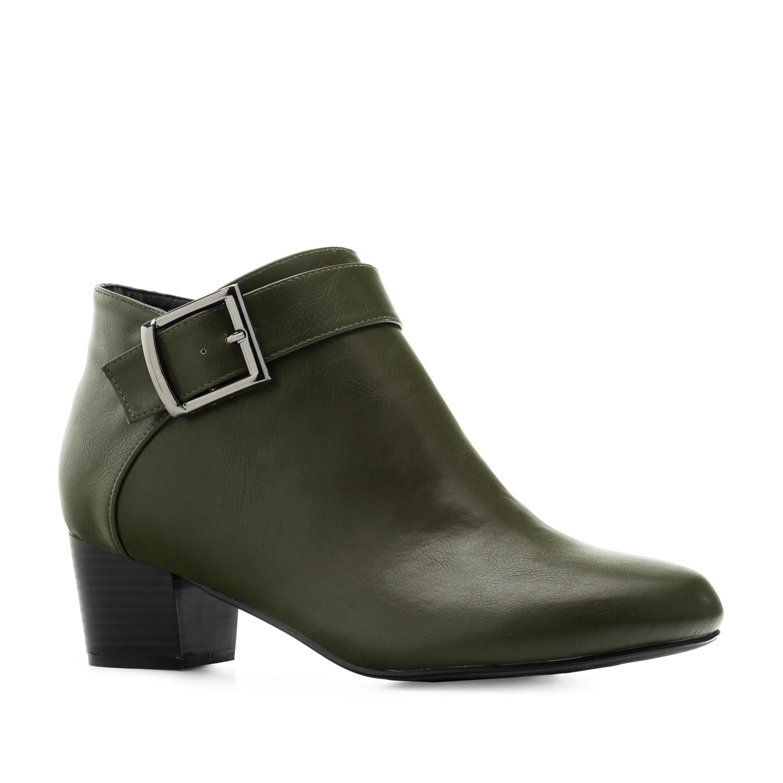 Duboke cipele sa dekorativnom šnalom, maslinasto zelene