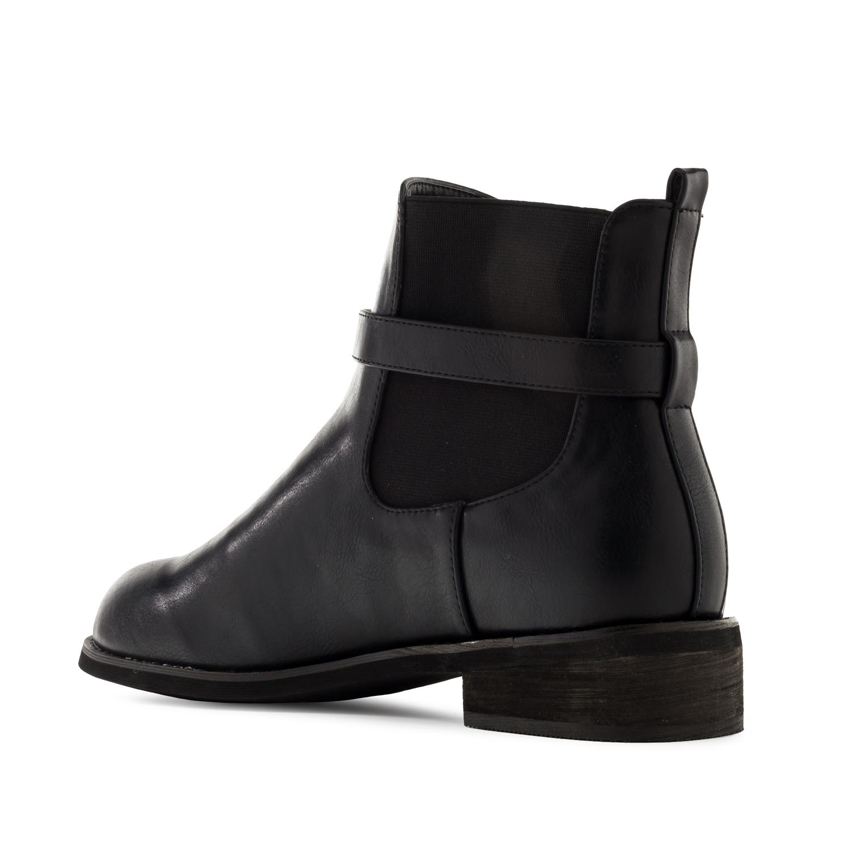 Kotníčková obuv Chelsea. Černá.