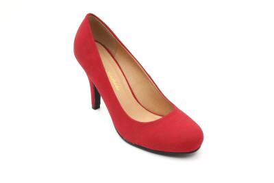 Retroavokkaat punaista keinomokkaa 9.5 cm stiletto korolla.