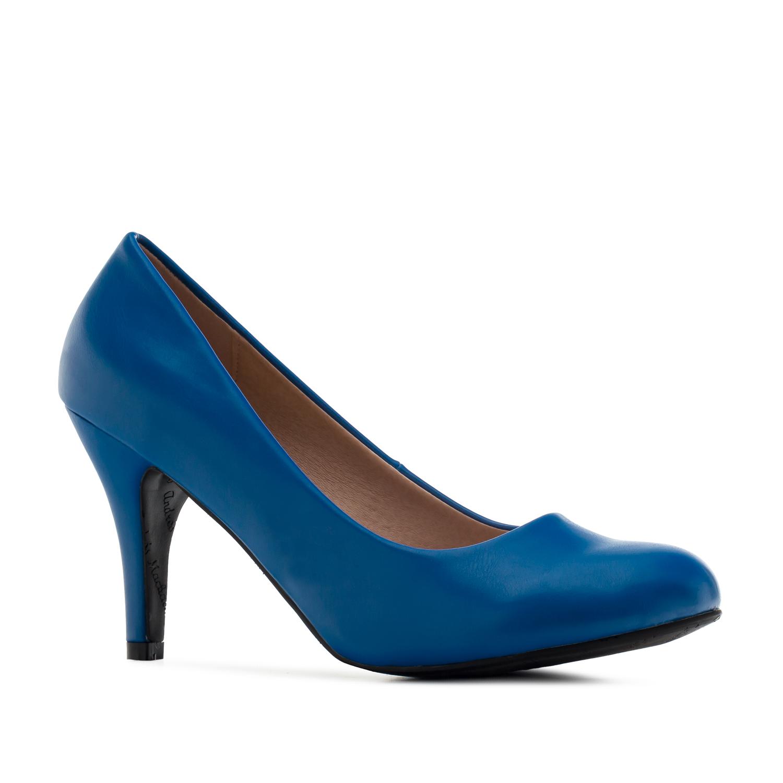 Klasické jednoduché lodičky. Výrazná modrá.