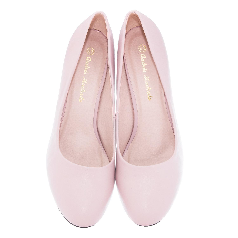 Zapatos de Salón Retro en Soft Rosa y tacón Fino de 9,5 cm.