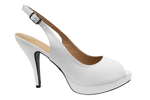 Sandalias en Soft Blanco y Tacon Stiletto.