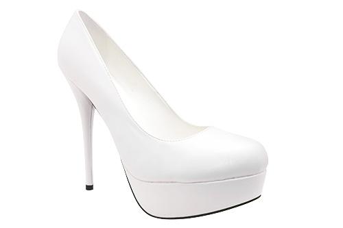 Cipele na platformu sa visokom štiklom, bele