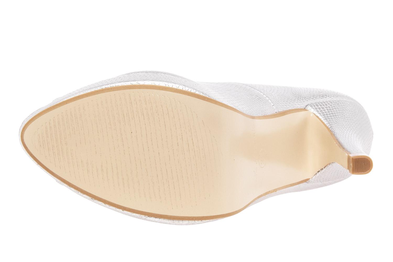 Peep Toes Grabado Plata y Plataforma
