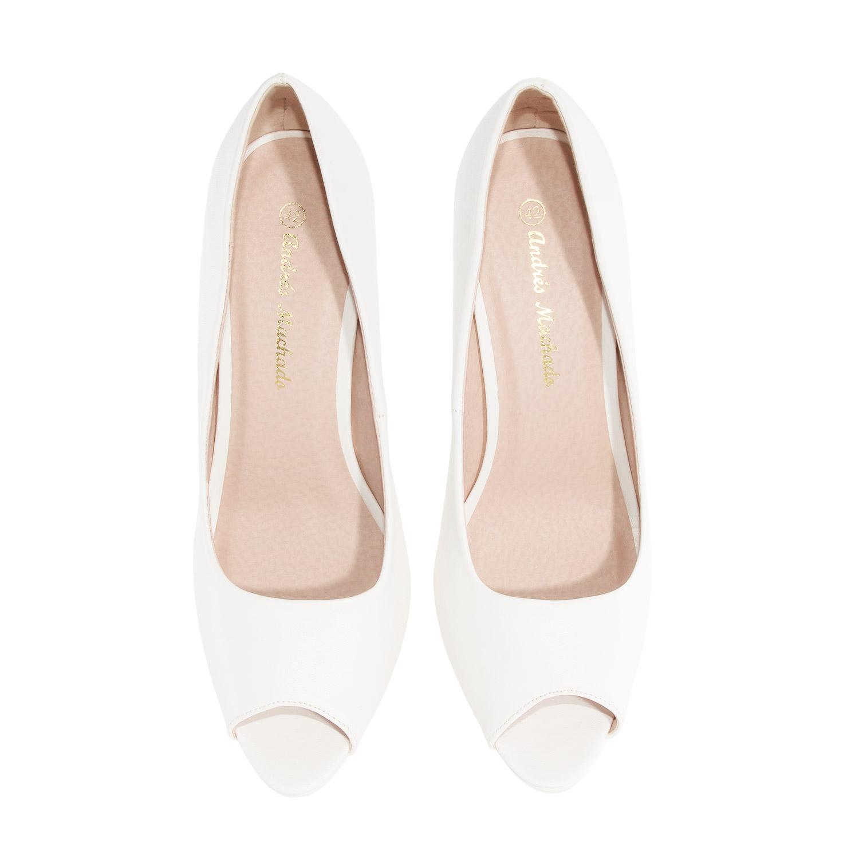 Peep-Toes en Soft Blanco y Plataforma