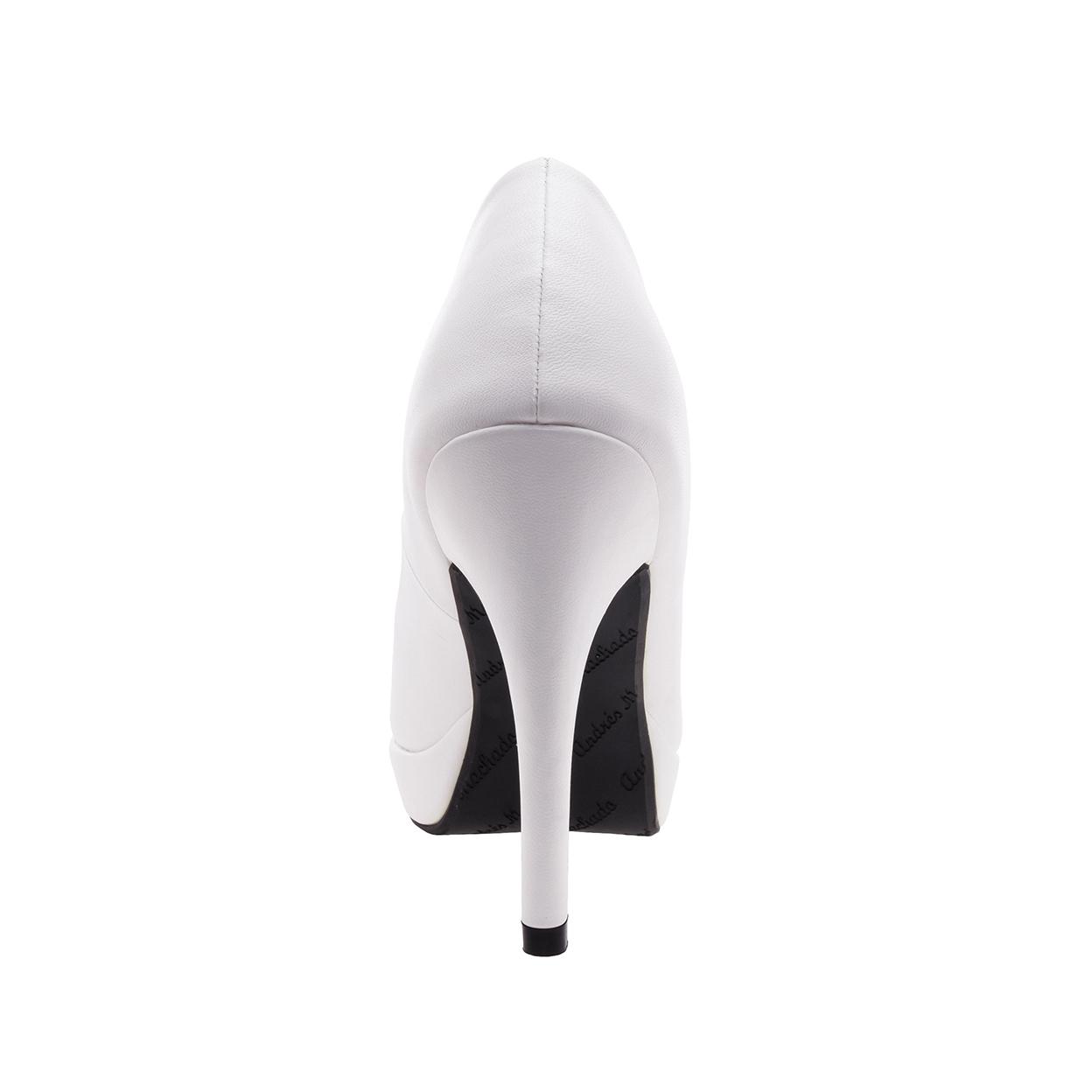 Peep-Toes en Soft Blanc