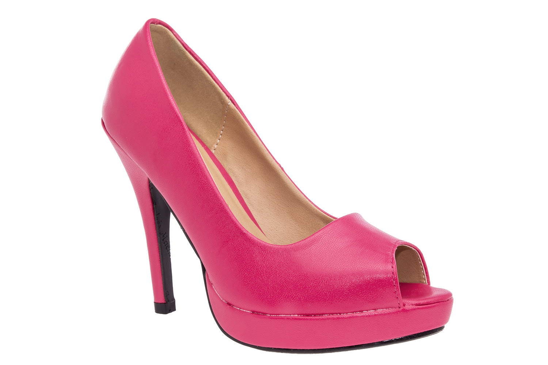 Peep-toes lodičky na platformě. Růžové.