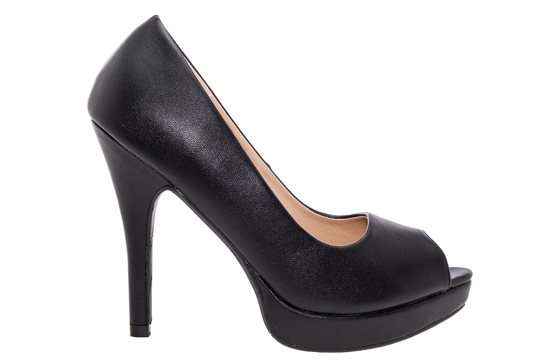 Peep-Toes en Soft Negro y Plataforma