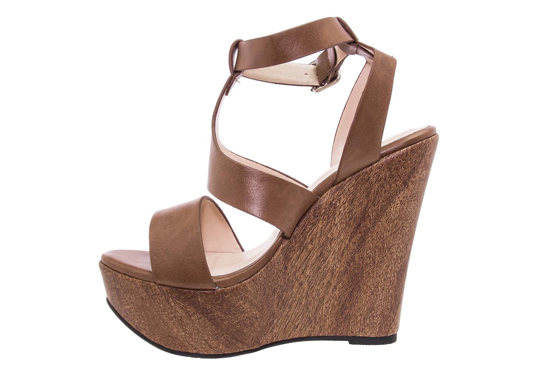 Visoke sandale na platformu braon Žena Veliki brojevi obuće Žena Mali  brojevi obuće Žena 06185850102
