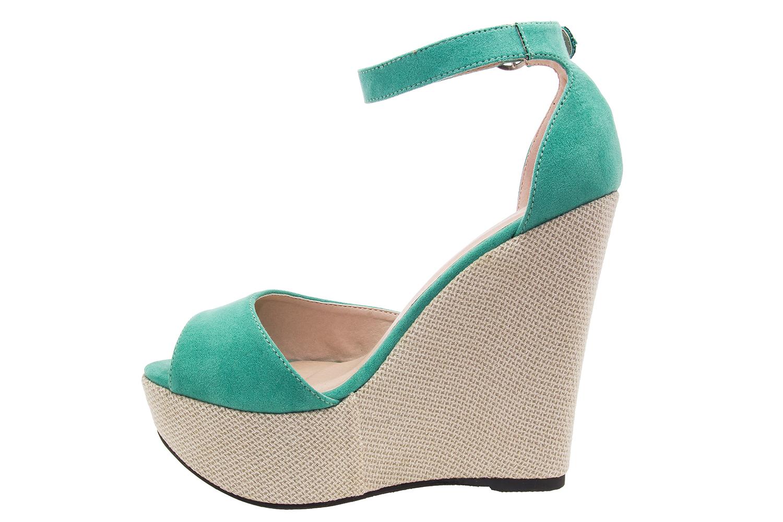 Antilop sandale na platformu, zelene