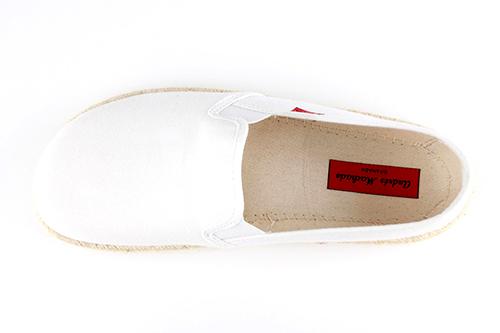 Miticas Zapatillas de Lona Blanco y suela de goma y Yute.