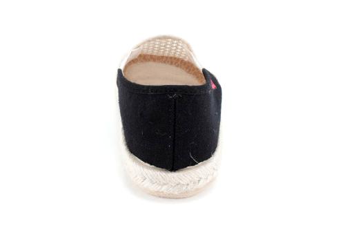 Miticas Zapatillas Bicolor Negro-Beige con suela de goma y yute
