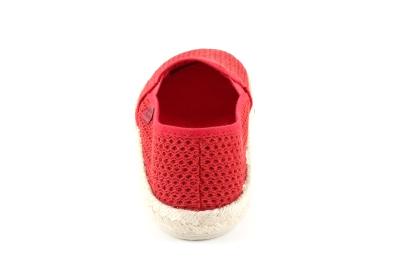Miticas Zapatillas de Rejilla Rojo con suela de goma y yute.