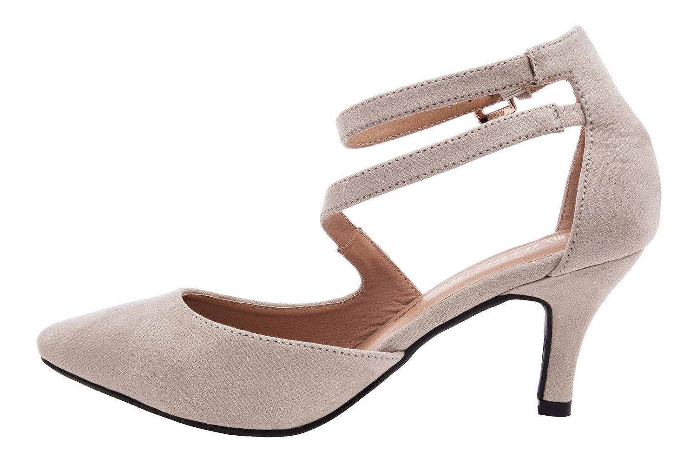 Antilop sandale sa niskom petom, svetlo bež