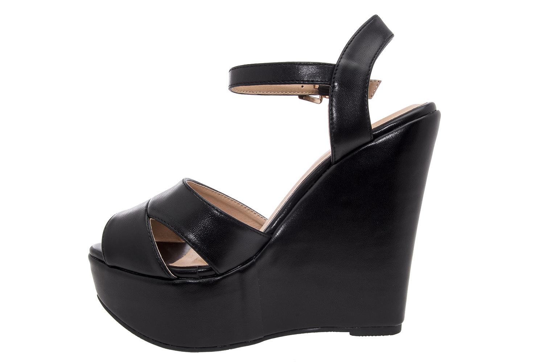 Sandalias con Cuña en Soft Negro