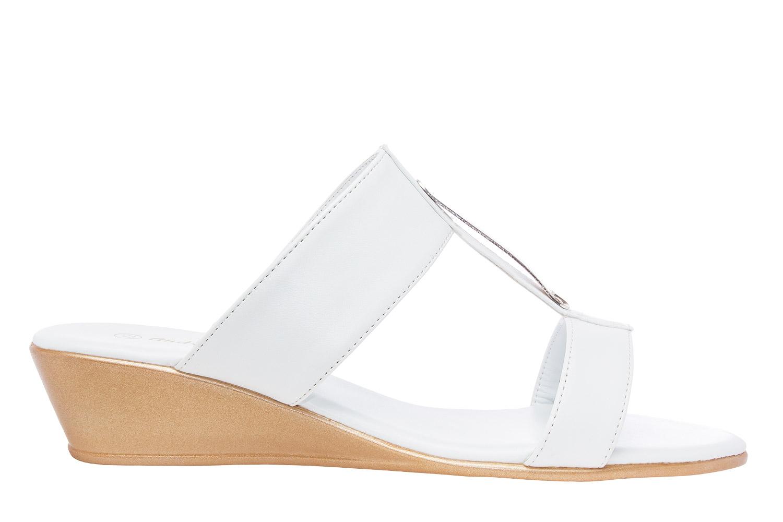 Sandalias Romanas con cuña en Soft Blanco