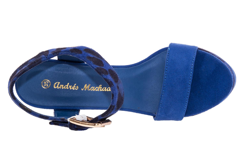 Sandalias en Ante Azulon