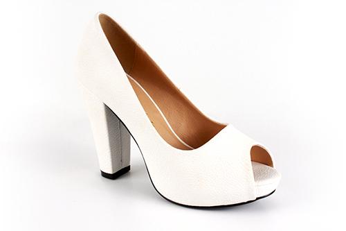 Elegantní lodičky peep toes. Bílé.
