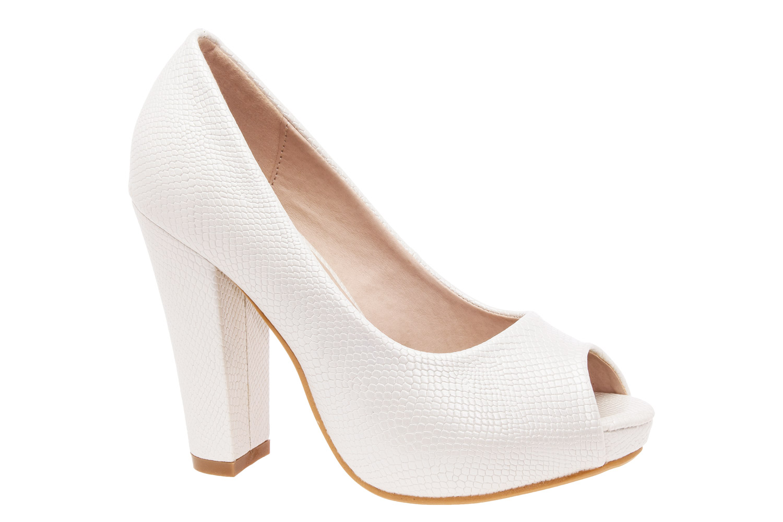 Peep Toes Grabado Blanco
