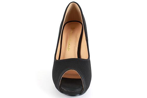 Elegantní lodičky peep toes. Černé.