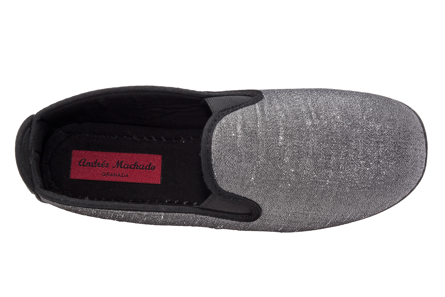 Slipper Tejido Brillante Plata