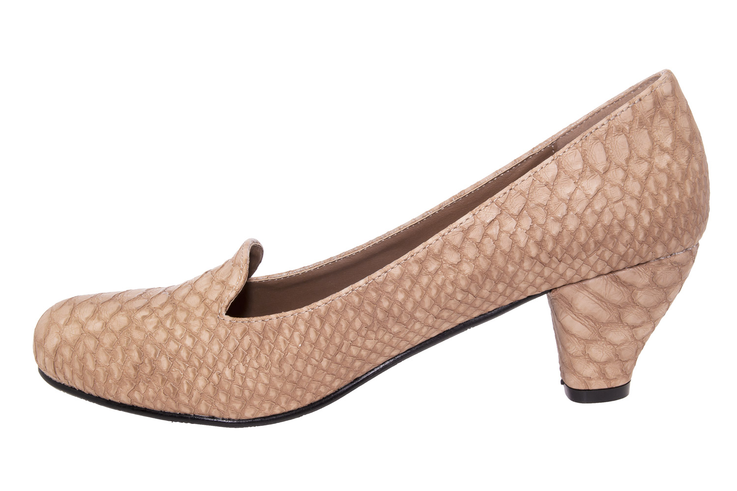 Slipper Tacon Serpiente Beige