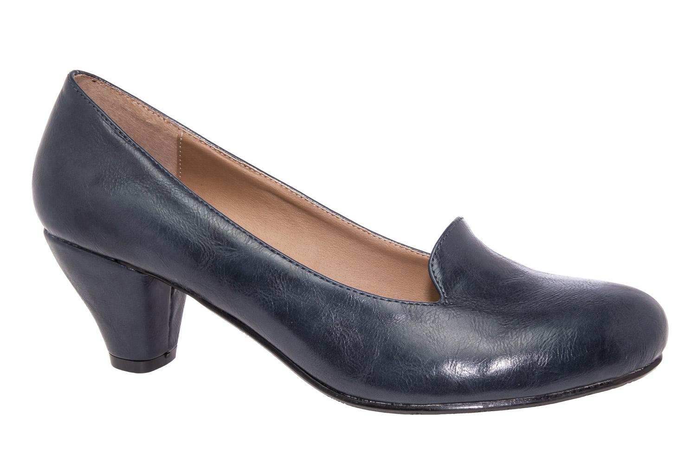 escarpins slippers en soft bleu marine femmes grandes pointures femmes petites pointures. Black Bedroom Furniture Sets. Home Design Ideas