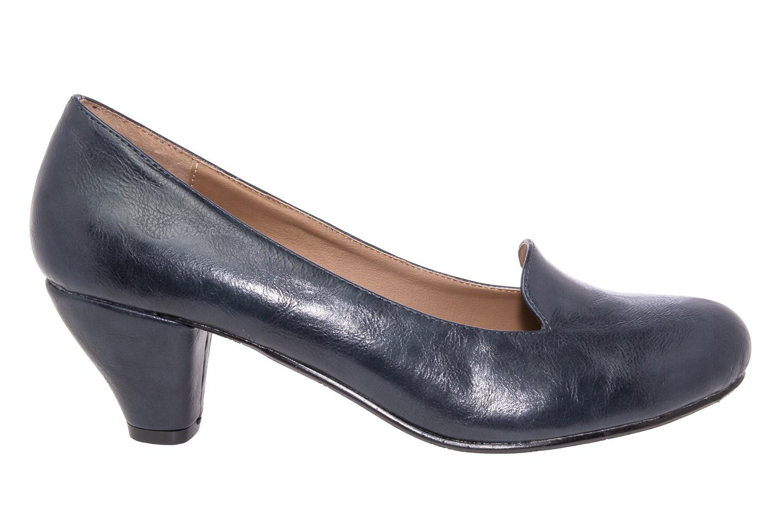 escarpins slippers en soft bleu marine femmes grandes. Black Bedroom Furniture Sets. Home Design Ideas
