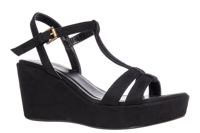 Antilop sandale na platformu, crne