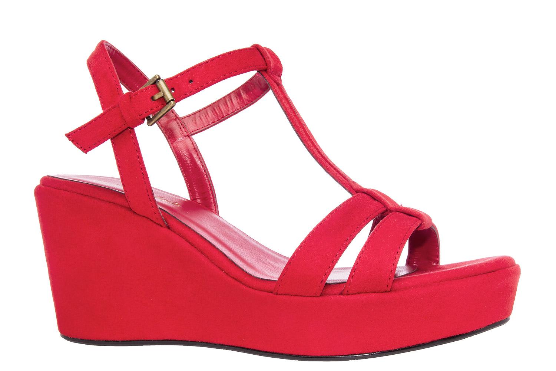 Antilop sandale na platformu, crvene