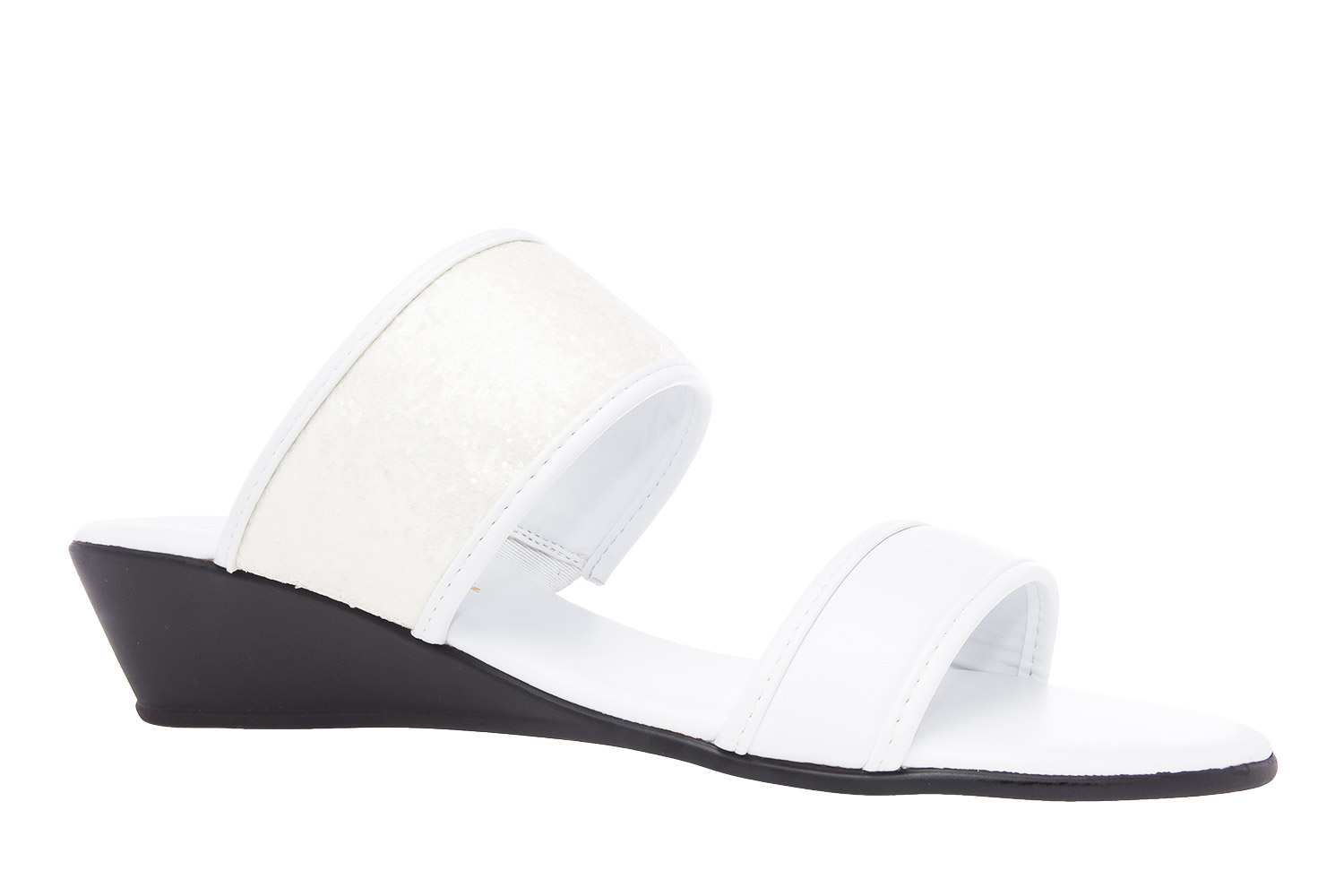 Sandalias Soft Blanco Brillo