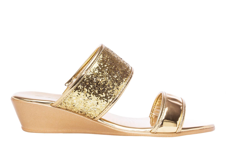 Sandalias Soft Oro Brillo