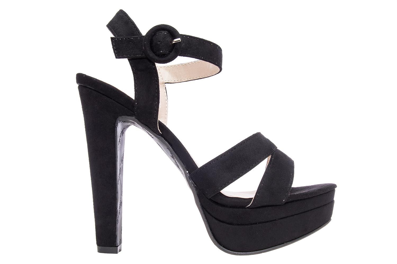Antilop sandale na visoku štiklu, crne
