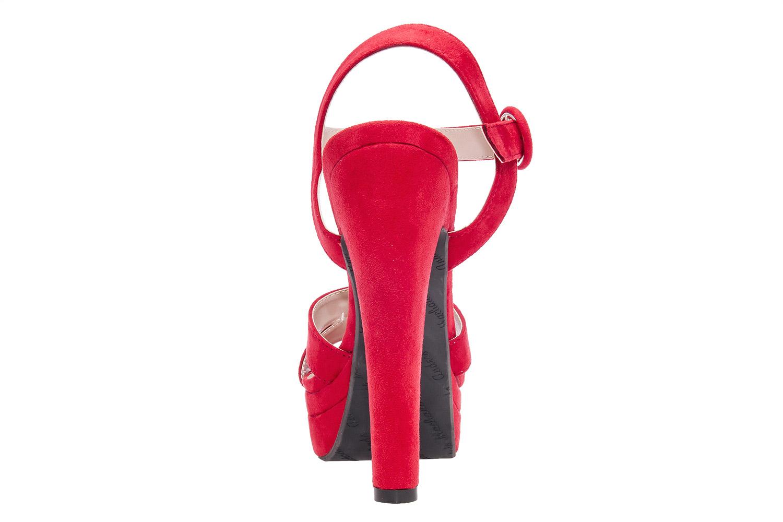 Antilop sandale na visoku štiklu, crvene