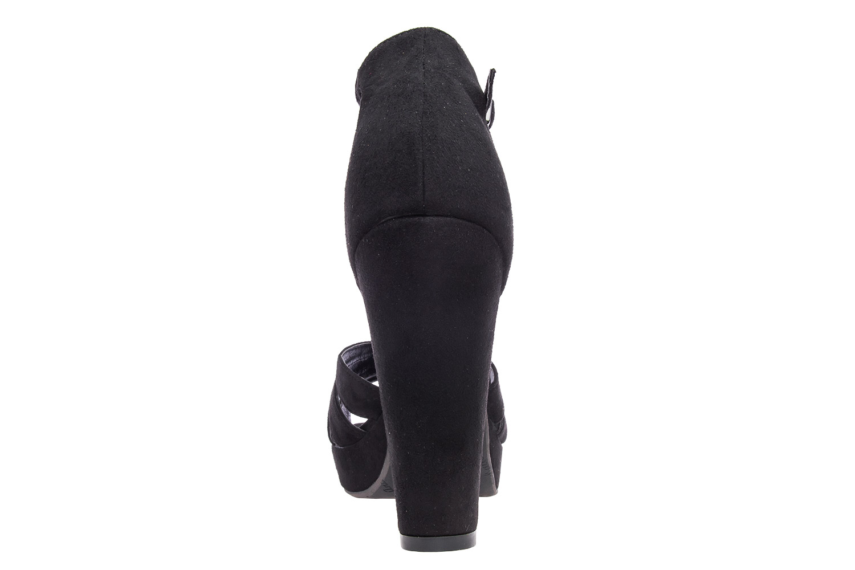Antilop sandale na štiklu, crne
