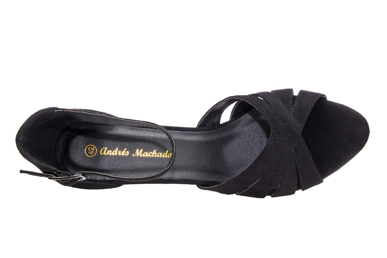 Sandalias Pulsera Antelina Negro