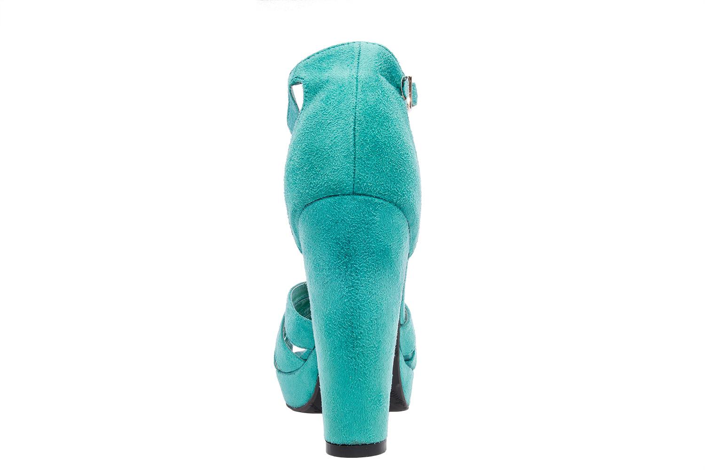 Antilop sandale na štiklu, tirkizne