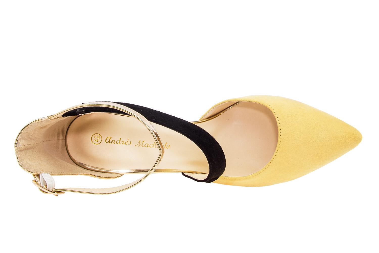 Dvobojne sandale u špic, zlatno-žute