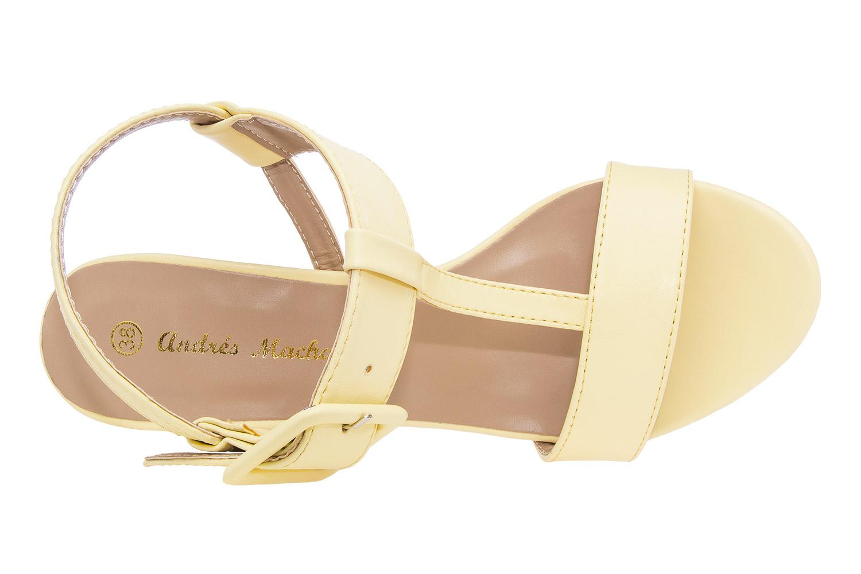 Elegantne sandale sa šnalom, soft žute