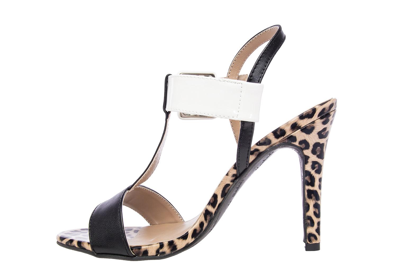 Elegantne sandale sa šnalom, soft leopard-crne