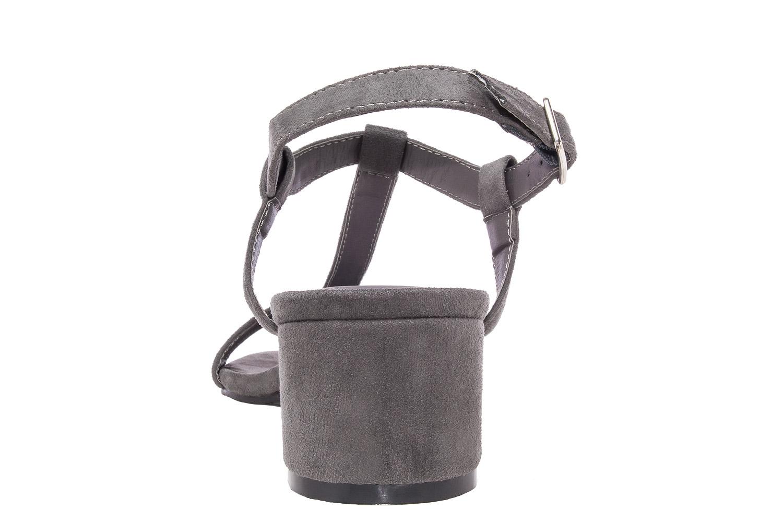 Semišové pantofle s tenkými pásky na nízkém podpatku. Šedé. - Dámská ... 6f618dd1f9