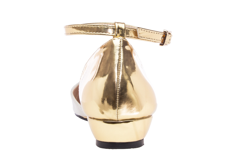 Dvobojne špic baletanke, zlatno-bež