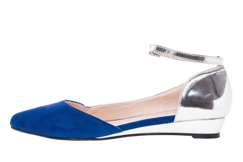 Dvobojne špic baletanke, srebrno-plave