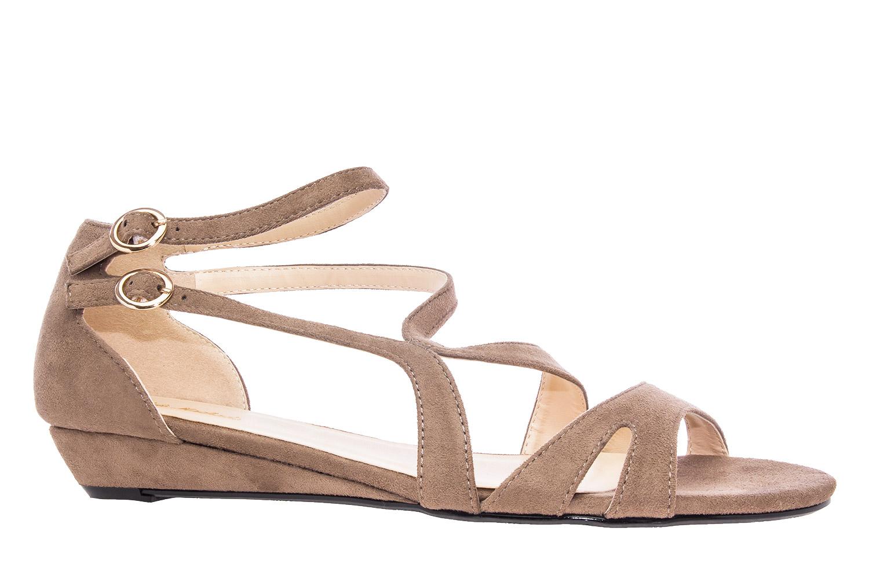 Antilop sandale sa neobičnim kaiševima, braon