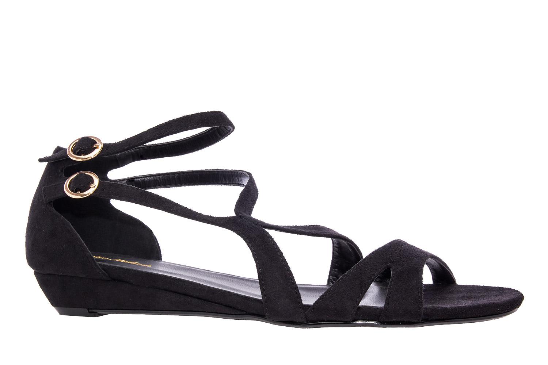 Antilop sandale sa neobičnim kaiševima, crne