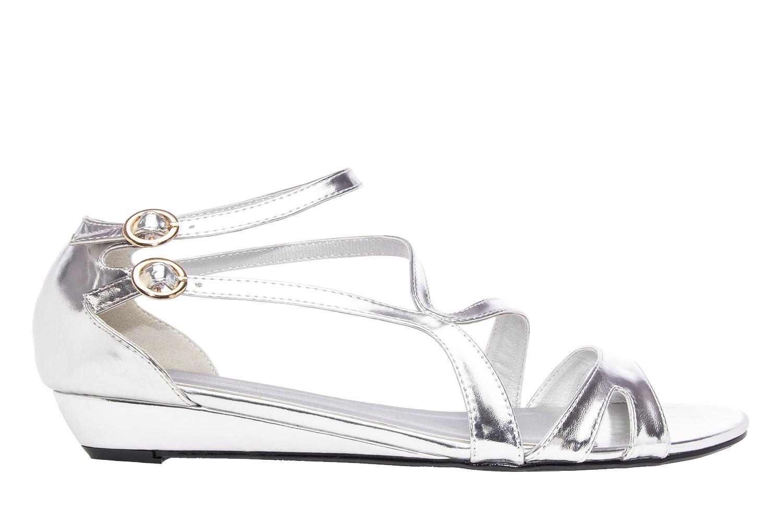 Antilop sandale sa neobičnim kaiševima, soft srebrne
