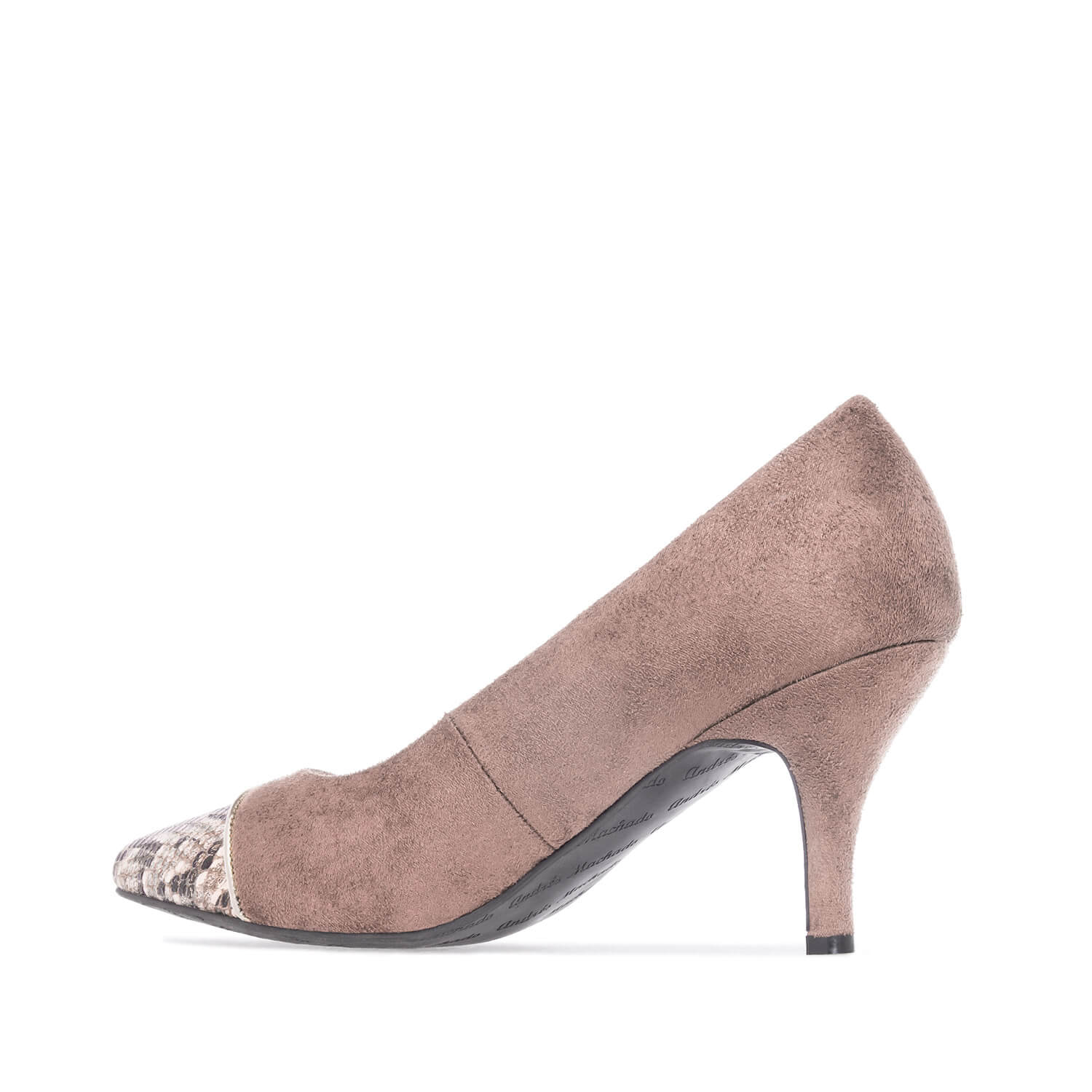 Pumps in Beige faux Suede